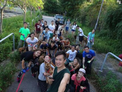 Team members at the Hong Kong dog shelter