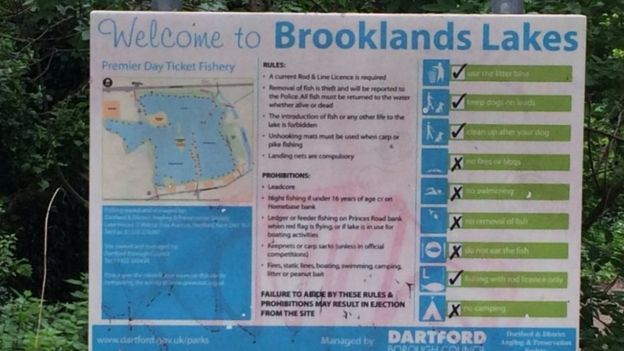 Brooklands Lakes fishing venue is run by Dartford Borough Council