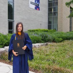 Ramona on her Graduation