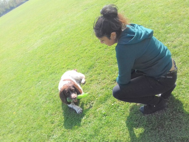EmmanuelleChaix and dogs in London
